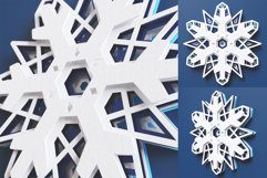 Snowflake 01 3D Layered SVG Cut File Product Image 3