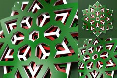 Snowflake 02 3D Layered SVG Cut File Product Image 3