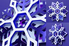 Snowflake 03 3D Layered SVG Cut File Product Image 3