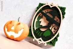 Witch Portrait Wall Art 3D Layered SVG Cut File Product Image 3