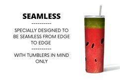 Watermelon Tumbler Sublimation | 20 oz | Taper | Straight Product Image 2