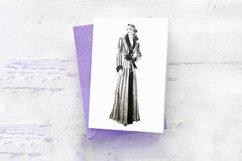 30 Retro Vintage Women Fashion Models Illustrations PNG JPG Product Image 5