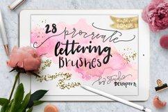 Procreate Lettering Brushes Bonus Product Image 1