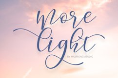 Morelight Script Product Image 1