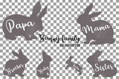 Bunny family silhouettes, pink and blush rabbit Easter decor Product Image 5