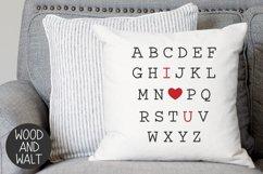Alphabet I Love You SVG | Valentine's Cut File Product Image 3