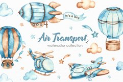 Air transport 2. Watercolor clipart Product Image 1