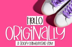 Originally - A Goofy Hand Lettered Font Product Image 1