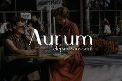 Aurum. Elegant Sans Serif typeface. Product Image 1