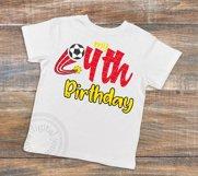 4th Birthday Soccer svg, Soccer Birthday shirt svg, Product Image 2