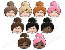 Mood 1 CUTE DOLLS Sweet Home Lady Boss Stickers PNG Files Product Image 6
