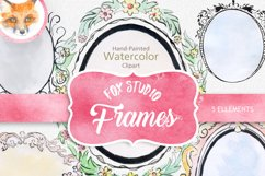 digital watercolor frames clipart watercolor png frames Product Image 1