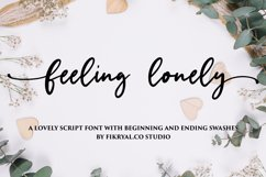 feeling lonely - A lovely font with beginning and ending Product Image 1