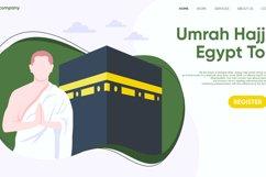 Hajj and Umrah Landing Page Flat Design Vector Product Image 3