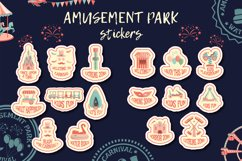 Amusement park stickers collection. Product Image 1