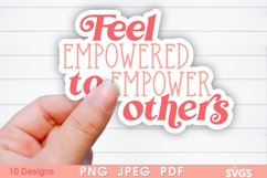 Women Equality Sticker Bundle | PNG Printable Sticker Pack Product Image 6