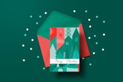 Christmas geometric pattern and postcard set. Product Image 4
