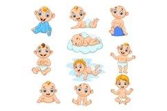 Set of Ten Cartoon Little Babies Character Product Image 1