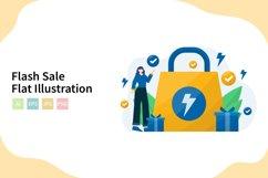 Flash Sale Flat Vector Illustration Product Image 1
