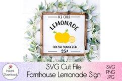 Farmhouse Lemonade Sign SVG l Ice Cold Lemonade Cutfile Product Image 5
