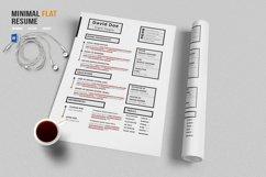 Minimal Flat Resume Template Product Image 2