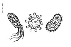 15 Virus Hand drawn Illustration Vector Product Image 2