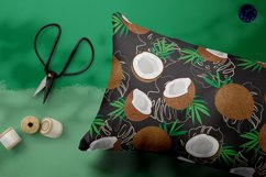 Coconut Seamless Pattern Fruits Background Product Image 5