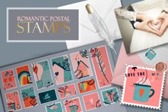 Postage stamps romantic for Valentine's Day BIG Product Image 1