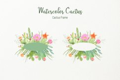 Watercolor clipart cactus for instant download  Product Image 5