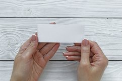 Mockups bundle box, with hand, note. PSD Product Image 5