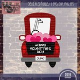 Whimsy Valentine Truck SVG DFX PNG EPS Commercial Product Image 2