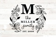 Family Monogram , Family Last Name Round sign svg Product Image 2