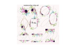 Wedding fowers Frame invites clipart Product Image 2