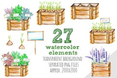 Garden tools Watercolor clip art Product Image 3