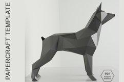 PDF Template of Doberman Pinscher Papercraft/ 3d Dog craft Product Image 1