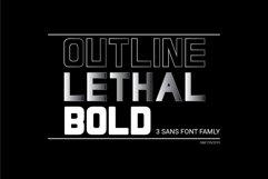 LETHAL - 3 sans font family Product Image 1