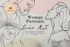 Line Art Woman Portraits Product Image 1