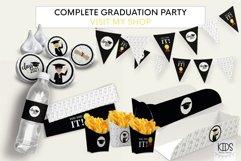 Girl Graduation party fries box, graduate printable decor Product Image 4