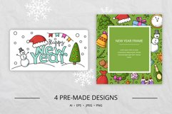 Doodle New Year Big set Vector Clipart Product Image 5