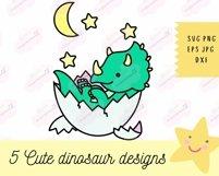 Baby Dinosaur SVG - SVG Files for Cricut, Cute Tshirt Design Product Image 3