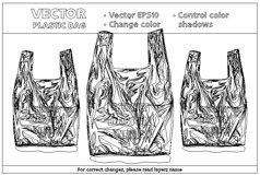 Vector Mockup Plastic Bag Product Image 2