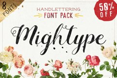 Mightype Handlettering Font Pack Product Image 1