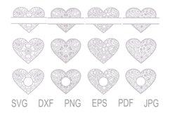 Heart SVG, Zentangle Heart SVG, Mandala Heart, Heart Frames Product Image 2