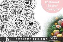 Easter rounds SVG  Easter Ornaments SVG   Easter bundle SVG Product Image 1