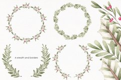 """Watercolor ClipArt """"Sweet greenery"""" Product Image 3"""