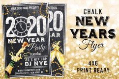 Chalk New Years Eve Flyer Product Image 1