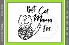 Mother's Day SVG, Best Cat Mama Ever Product Image 2