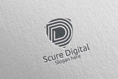 Secure Digital Letter D Digital Marketing Logo 78 Product Image 5