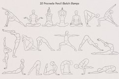 Realistic Yoga Body Poses Stamps for Procreate Product Image 6