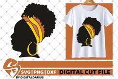 5x Black Woman Bundle SVG, Afro Girl svg, hair band SVG Product Image 4